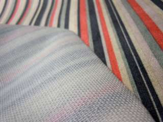 Dm08 Per Meter Black Orange Stripe Velvet Sofa/Cushion Cover Fabric