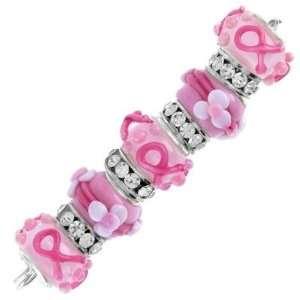 Pink Ribbon Awareness Large Hole Bead Set Arts, Crafts & Sewing