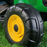 wheels for authentic john deere power drive your tractor across