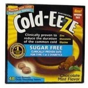 Cold Eeze Lozenge Sugar Free Cocolate Mint 48 Lozenges