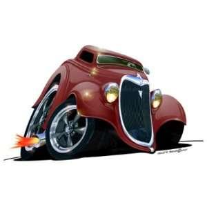 24 DB 1934 Ford Coupe Flat Head Turbo Fire Cartoon Car