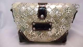 Nahui Ollin Leopard Print Candy Wrapper Handbag NWT