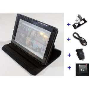 Wecase® Premium Leather Kindle Fire Case Bundle (Leather
