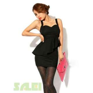 Sexy Side Openwork Design Low Cut Srapless Mini Dress For Women