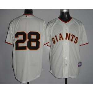 2012 San Francisco Giants 28 Buster Posey Cream Jersey