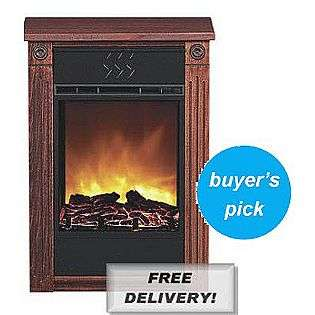 Accent Electric Fireplace with Amish made Wood Mantle   Cherry  Heat