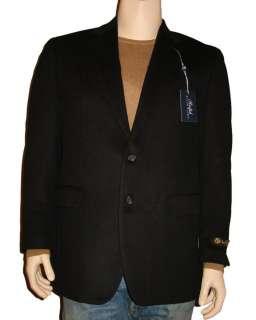 RALPH LAUREN MENS TAN / BLACK 100% CAMEL HAIR BLAZER JACKET SPORT COAT