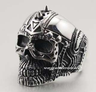 316L Stainless Steel Cool Punk & Rock Skull Men`s Ring 4E036