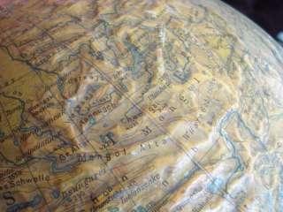 1800s ANTIQUE GOLD PLATED BRONZE GLOBE STAND w/GLOBE
