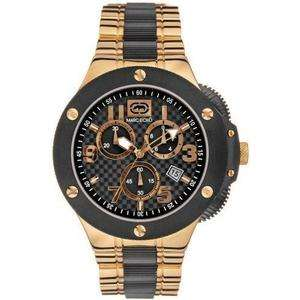 MARC ECKO MENS ROSE GOLD PVD COLLECTORS EDITION CHRONOGRAPH WATCH