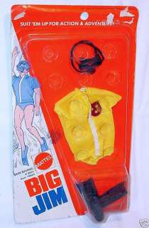 Mattel Big Jim SKIN DIVER Action Figure Outfit MOC`73