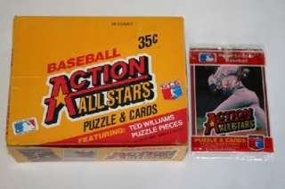New 1984 Donruss Baseball Box of 36 Packs Action All