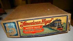 Pre War WWII 0 027 American Flyer Model 1307 Train Box