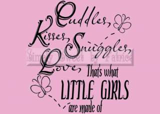 LITTLE GIRLS Vinyl Wall Saying Lettering Quote Art Decoration Decal