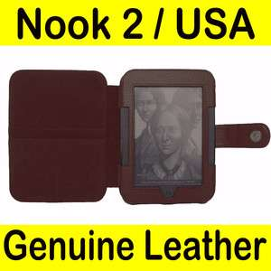 Barnes Noble Nook 2 2nd Genuine Leather Case Cover BRN