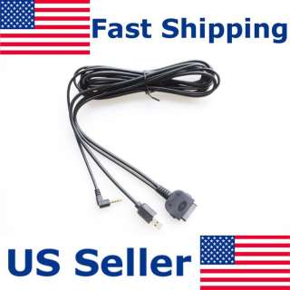 IPOD IPHONE USB 3.5MM INTERFACE CABLE AUDIO & VIDEO COMPATIBLE