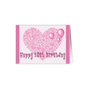 18th Birthday, Pink hearts, balloons & hearts Card Toys & Games