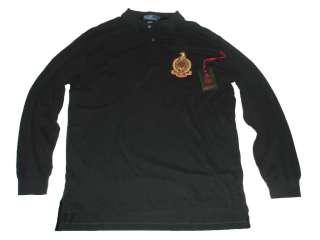 Polo Ralph Lauren Black Black Dragon Crest XL Rugby Shirt
