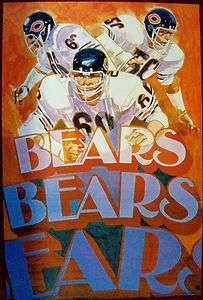 VINTAGE 1973 CHICAGO BEARS NFL POSTER
