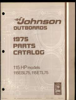 1975 JOHNSON 115HP OUTBOARD MOTOR PARTS MANUAL