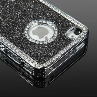 Glitter Diamond Chrome rhinestone Hard Case F iPhone 4 4S 4G