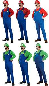 Adult Super Mario Bros. Mario Luigi Std Deluxe Costume