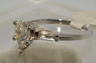 12000 1.15CT 3 STONE PEAR CUT DIAMOND ENGAGEMENT RING VS SIZE 5.75