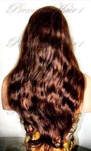 Full Lace Human Hair Indian Remi Remy Wig #3 Medium Brown 22/26