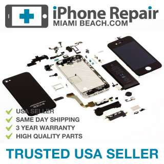 Complete Body Shell for iPhone 4 Black   No Logic Board