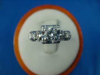 14 K.ANTIQUE DIAMOND ENGAGEMENT VS HIGH END RING