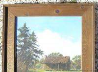 Signed Listed Framed Oil Painting American West Cabin