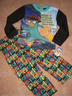 PHINEAS & FERB *Perry* L/S Shirt Pajamas Pjs NWT 7/8