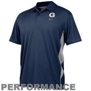 Nike Georgetown Hoyas Navy Blue Dri Fit Mesh Polo Sports