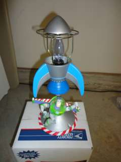 Buzz Lightyear Light Year Rocket Lamp Night Light Pixar Disney