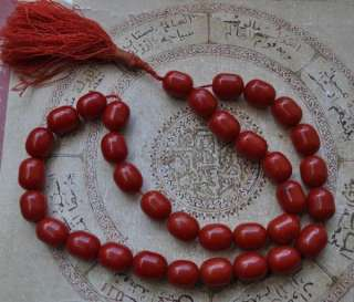 XL Vintage Prayer beads Egyptian Misketa  cherry amber Bakelite