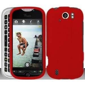 Red Hard Snap On Case Cover Faceplate Protector for HTC myTouch Slide