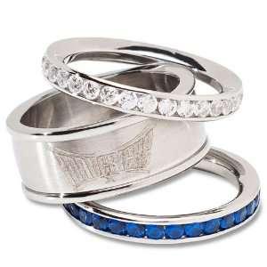 Mavericks Ladies Spirit Crystal Stacked Ring Set