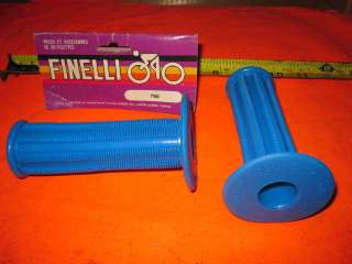VINTAGE FINELLI BLUE HANDLE BAR GRIPS BIKE BICYCLE NOS