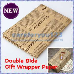 Gift Wrapping Paper Vintage Style Packing Double Sided Christmas Wrap