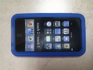 iPod Touch Silicone Case 2G 3G iTouch 2nd 3rd Gen Blue
