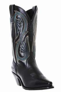 11 COWBOY SNIP TOE BLACK NAPPA LEATHER BOOTS 9 Medium 5730