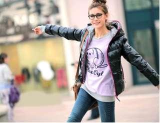 COLORS Fashion Womens Winter Warm Hoodie Zip Up Jacket Coat Outwear