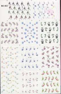 220 NAIL IMAGES IN 1 NAIL ART TATTOOS STICKER WATER DECAL F