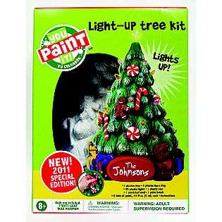 Plaster Light Up Statue Christmas Tree  Colorbok For the Home Crafts