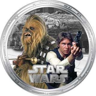 Silver Millennium Falcon Star Wars Proof Set   New Zealand Mint