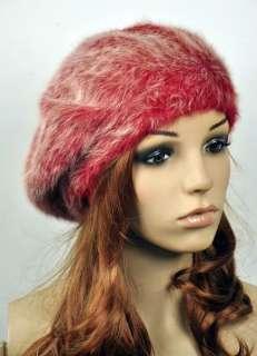Soft & Warm Rabbit Fur Sexy Lady Womens Witer Beret Hat Beanie 2