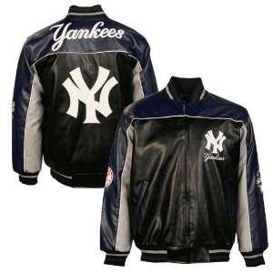 New York Yankees Youth Black Varsity Pleather Jacket