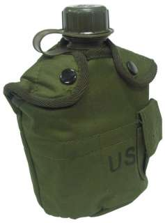 US ARMY USMC OD 1 Qt Hydration Canteen bottle+METAL CUP