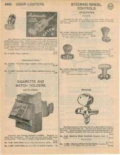 1948 Car Steering Wheel Control Knob Steernob Fulton ad