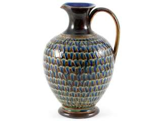 an attractive doulton lambeth london stoneware ewer jug that is dated